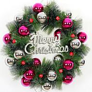 christmas seppele 3 väriä neulasia joulukoristeita kotiin osapuoli halkaisija 36cm navidad uusi vuosi tarvikkeita