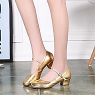billige Moderne sko-Dame Sko til latindans / Steppdans / Moderne sko Paljett Høye hæler Perlearbeid Lav hæl Kan ikke spesialtilpasses Dansesko Sølv / Gylden