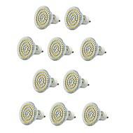 billige Spotlys med LED-10pcs 300-400lm E14 GU10 E26 / E27 LED-spotpærer MR16 60 LED perler SMD 3528 Vanntett Dekorativ Varm hvit Kjølig hvit 220-240V