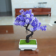 Set of 1 PCS 1 Tak Polyester Planten Bloemen voor op tafel Kunstbloemen Long 9.4(inch)