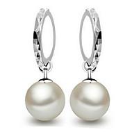 fine s925 sølv perle dråbe øreringe klassisk feminin stil