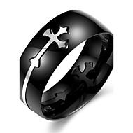 男性用 指輪 ユニーク ファッション ステンレス鋼 十字架 その他 ジュエリー 日常 カジュアル スポーツ