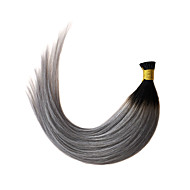 Ombre Grey I Tip Hair Extension Straight 1B/Grey Keratin Fusion Hair Extension 1g/s