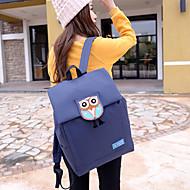 ユニセックス バッグ キャンバス スクールバッグ のために カジュアル ブラック ブルー