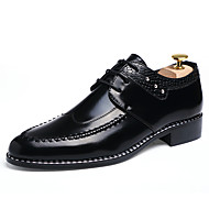 Men's Shoes Leather Spring Fall Winter Formal Shoes Fashion Boots Oxfords Lace-up For Casual Office & Career Black Light Brown Burgundy