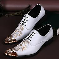 billige -60%-Herre sko PU Komfort Oxfords til Bryllup Fest/aften Hvit