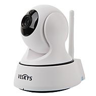 billige Innendørs IP Nettverkskameraer-VESKYS T1 1.0 MP Innendørs with IR-kutt Primær 64(Dag Nat Bevegelsessensor Dobbeltstrømspumpe Fjernadgang Plug and play IR-klip) IP Camera