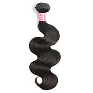 Cabelo Humano Cabelo Brasileiro Cabelo Humano Ondulado Onda de Corpo Extensões de cabelo 1 Peça Preto
