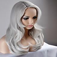 halpa -Naisten Synteettiset peruukit Suojuksettomat Pitkä Hyvin pitkä Luonnolliset aaltoilevat Hopea Luonnollinen peruukki Halloween Peruukki
