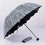 Schwarz / Weiß Taschenschirme Sonnenschirm Plastic Kinderwagen
