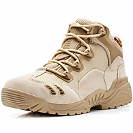 Men's Athletic Shoes Comfort Fall Winter Suede Canvas Hiking Shoes Athletic Casual Outdoor Office & Career Work & Safety Beige Black