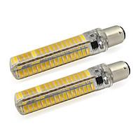 billige Kornpærer med LED-2pcs 150-200 lm BA15d Tubelys Tube 136 LED perler SMD 5730 Varm hvit / Kjølig hvit 12 V / 2 stk.