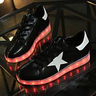 יוניסקס-נעלי ספורט-PU-נוחות נעליים לעריסה רצועת קרסול להאיר נעליים-שחור לבן-שטח יומיומי ספורט-עקב שטוח