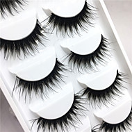 Eyelashes lash Full Strip Lashes Eyes Crisscross Thick Lifted lashes Volumized Handmade Fiber Black Band 0.10mm 15mm