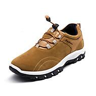 hesapli Dağ Yürüyüşü Donanımları-Erkek Ayakkabı PU Bahar Sonbahar tembel çizmeler Rahat Atletik Ayakkabılar Dağ Yürüyüşü Günlük için Bağcıklı Siyah Gri Sarı Mavi
