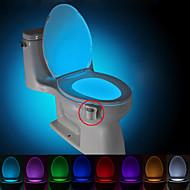 billiga Belysning-brelong 1 st 8-färgs mänsklig rörelse sensor pir toalett natt ljus