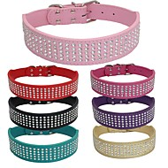 honden Kraag Verstelbaar/Uitschuifbaar / Flits / Met de hand gemaakt / Vrijetijdsschoenen EffenRood / Zwart / Groen / Roze / Paars / Goud