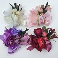 Wedding Flowers Roses Lilies Peonies Boutonnieres Wedding Party/ Evening Satin
