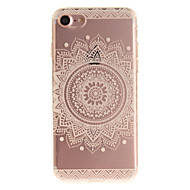 Til iPhone X iPhone 8 iPhone 7 iPhone 6 Etuier IMD Bagcover Etui Mandala-mønster Blødt TPU for Apple iPhone X iPhone 8 Plus iPhone 8