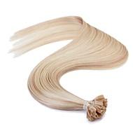 neitsi 16 '' 25グラムヨーロッパの人間の髪の毛の拡張子はストレート接合uのネイルチップレミAAAAA品質ヘアP18 / 613#を事前