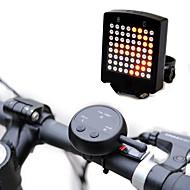 hesapli -Bisiklet Arka Işığı Lazer - Bisiklet Smart Şarj Edilebilir Su Geçirmez Kablosuz Lityum Pil CR2032 Other Lümen Batarya Kırmızı Bisiklete