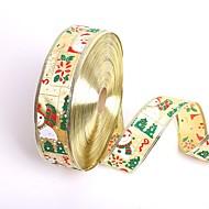 új 5cm * 200cm aranyos hóember mikulás karácsonyi szalaggal ajándék csomagolás szalag karácsonyfa diy fesztivál party dekoráció