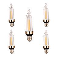 billige Stearinlyslamper med LED-YWXLIGHT® 300-400 lm E26/E27 Dekorations Lys 2 leds COB Dekorativ Varm hvit Kjølig hvit AC 220V