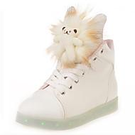 baratos Sapatos Femininos-Mulheres Sapatos Couro Ecológico Primavera Outono Conforto Sapatos de Berço Tira no Tornozelo Botas de Neve Tênis com LED Tênis Basquete