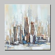 billiga Abstrakta målningar-Hang målad oljemålning HANDMÅLAD - Abstrakt Abstrakta landskap Moderna Inkludera innerram