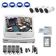 strongshine® IP κάμερα με ανάλυση 720p / υπέρυθρο / νερού-απόδειξη και NVR με 10.1inch LCD / 2TB κιτ hdd επιτήρησης combo
