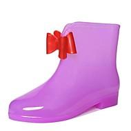 """בנות מגפיים נוחות גומי יומיומי מגפי גשם סגול אדום ירוק מתחת ל 2.54 ס""""מ"""