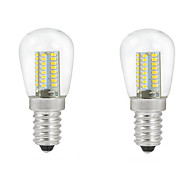 billige Globepærer med LED-2pcs 3 W 2700-3000/6000-6500 lm E14 LED-globepærer C35 104PCS LED perler SMD 3014 Dekorativ Varm hvit / Kjølig hvit 220-240 V / 2 stk. / RoHs