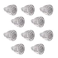 billige Spotlys med LED-GU5.3(MR16) LED-spotpærer MR16 5 leds SMD 3030 Mulighet for demping Dekorativ Varm hvit Kjølig hvit 450-500lm 2800-3200/6000-6500K DC 12