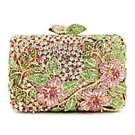 Mulheres Bolsas Metal Bolsa de Festa Cristal / Strass Dourado / Rhinestone Crystal Evening Bags