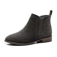 billige Damesko i skind-Three Seasons® Støvler-Læder-Komfort-Dame-Grå-Udendørs Fritid-Flad hæl