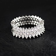 Women's Ring Sterling Silver Luxury Ring Jewelry Silver For Wedding Party Casual 6 / 7 / 8 / 9 / 10