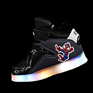 tanie Obuwie chłopięce-Dla chłopców Buty PU Zima Comfort Buty do lekkiej atletyki LED Szurowane na Atletyczny White Gray Czerwony Granatowy