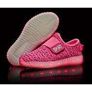 baratos Sapatos de Menino-Para Meninos Sapatos Tricô Outono Conforto / Tênis com LED Tênis LED para Verde / Azul / Rosa claro