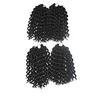 baratos -Tranças Crochet pré-laço Tranças de Cabelo Jheri Curl Cabelo 100% Kanekalon Marrom Escuro Cabelo para Trançar Extensões de cabelo