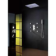 Dusjkran - Moderne - LED / Termostatisk / Regndusj / Widespary / Hånddusj Inkludert - Messing (Krom)