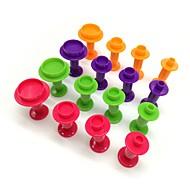 billige Bakeredskap-4 stk / sett rundfarget vårdemper med plastkakeform, bakervarer