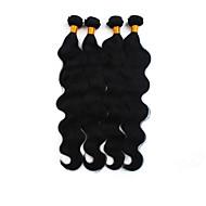 Tissages de cheveux humains Cheveux Brésiliens Ondulation naturelle 4 Pièces tissages de cheveux