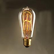 40w st58 edison akkor lamba 19 e27 ipek dikey tel retro dekoratif ampuller