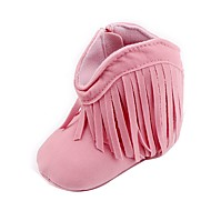 tanie Obuwie dziewczęce-Dla dziewczynek Buty Derma Wiosna Jesień garbić buty Modne obuwie Comfort Buciki Spacery Frędzel na Casual Na wolnym powietrzu Beige