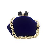 baratos Clutches & Bolsas de Noite-Mulheres Bolsas Veludo Bolsa de Festa Sólido Vermelho / Azul / Vinho