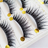 Eyelashes Full Strip Lashes Eyelash Crisscross Natural Long Lifted lashes Volumized Curly Handmade Fiber Black Band