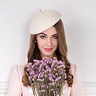 Chapéus de tecido de penas de lã Cabeça de estilo clássico feminino elegante
