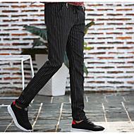 Pánské Čínské vzory Štíhlý Upnuté Kalhoty chinos Kalhoty Proužky