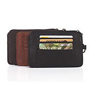 Men Bags All Seasons Cowhide Card & ID Holder Coin Purse for Wedding Event/Party Casual Formal Office & Career Black Coffee Light Brown