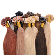 Brazilian U-Tip Hair Extensions Multiple Colors Kertain Prebonded Human Hair Extension 16-24 Inch